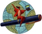woman-flying-around-globe-on-pen